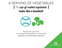 serving of vegetables