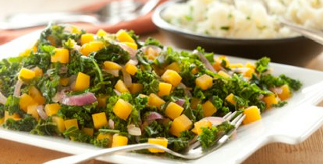 butternut squash and kale salad