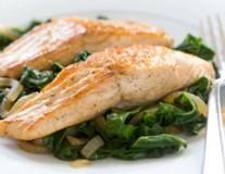 salmon with swiss chard